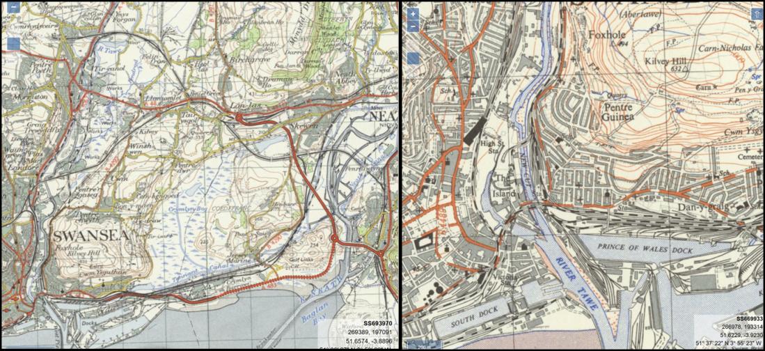Old Swansea rail