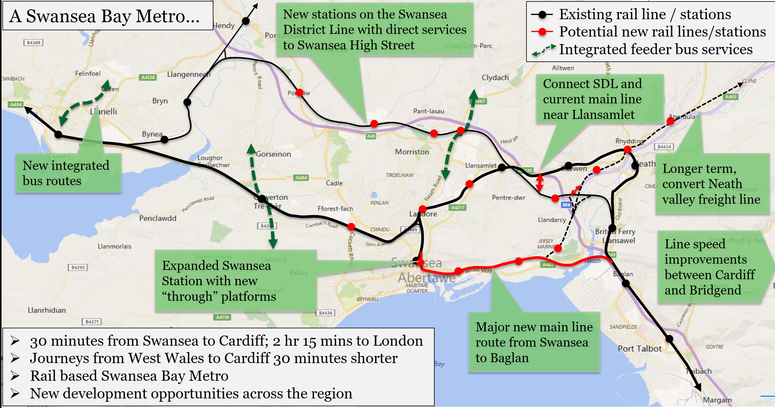 Swansea to Cardiff in 30 minutes and a Swansea Bay Metro Mark Barry